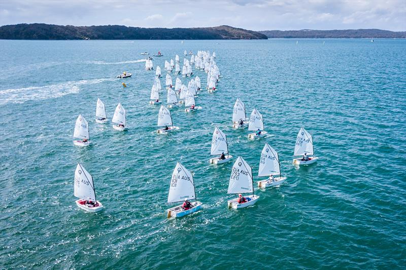 Optimist on day 2 of the NSW Youth Championship at Lake Macquarie - photo © Beau Outteridge
