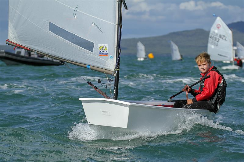 William Mason (Wakatere BC) - (top 10yr old) - Day 6 - 2019 Toyota New Zealand Optimist National Championships, Murrays Bay, April 2019 - photo © Richard Gladwell