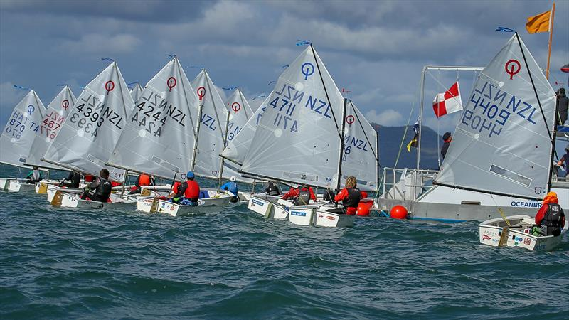 Silver fleet start - Day 6 - 2019 Toyota New Zealand Optimist National Championships, Murrays Bay, April 2019 - photo © Richard Gladwell