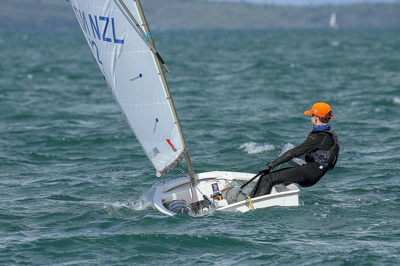 Tom Rebbeck (Wakatere BC) - Winner of the Silver fleet division - Day 6 - 2019 Toyota New Zealand Optimist National Championships, Murrays Bay, April 2019 - photo © Richard Gladwell