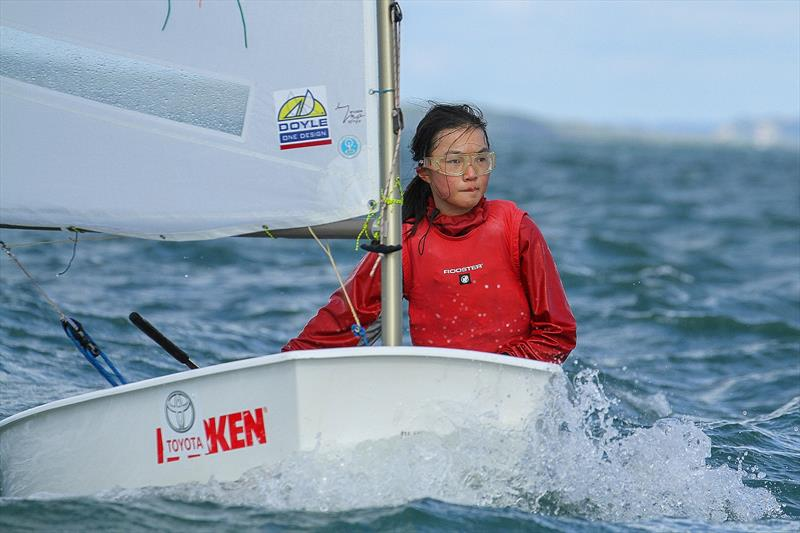 Shufei Wu (Murrays Bay SC) Silver fleet- Day 6 - 2019 Toyota New Zealand Optimist National Championships, Murrays Bay, April 2019 - photo © Richard Gladwell
