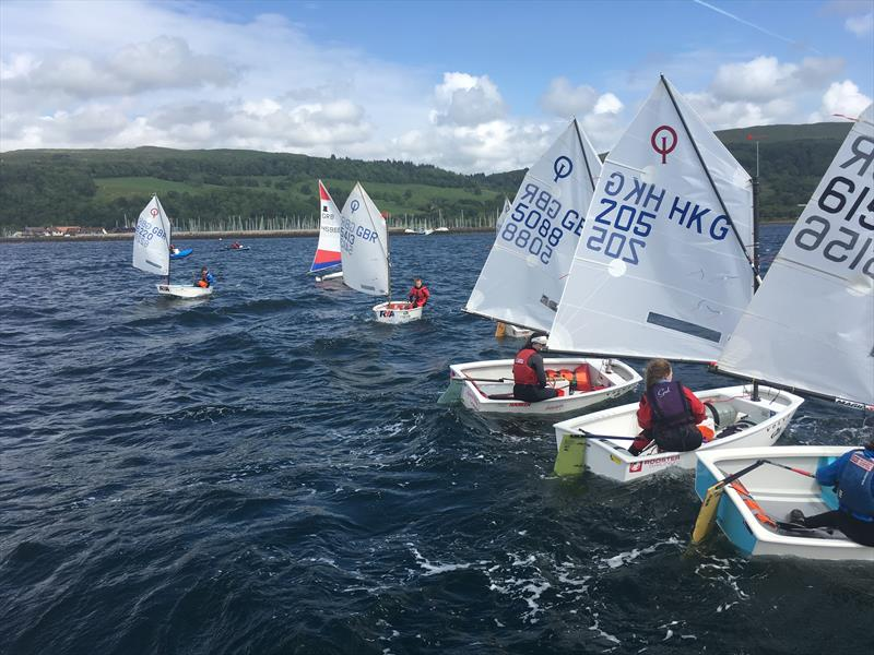 Sailingfast Scottish Optimist Traveller Series at Largs - photo © Brendan Docherty