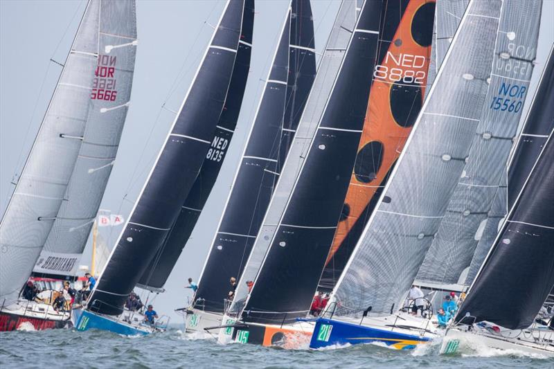 Close Class B racing in the 2018 ORC/IRC Worlds - Newport in 2020 will have the same - photo © Sander van der Borch