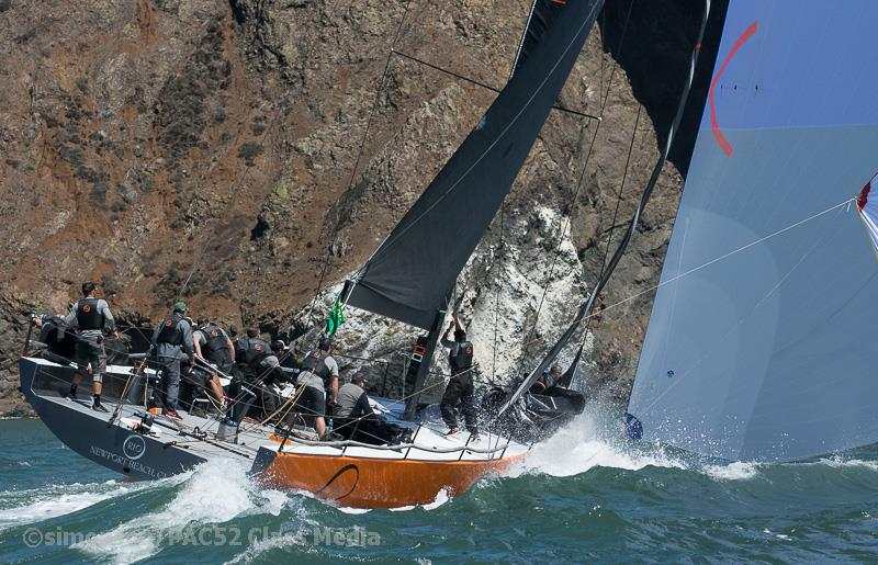 Pac 52s on day 1 of the Rolex Big Boat Series 2018 - photo © Erik Simonson / PAC52 Class