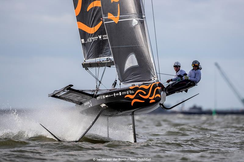 Team DutchSail - Janssen de Jong earlier this month training in the Netherlands. photo copyright Sander van der Borch / Team DutchSail taken at  and featuring the Persico 69F class