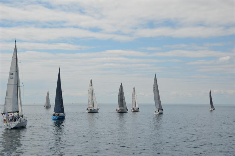 Light airs and strong competition make for cerebral sailing at the Lake Ontario 300 Challenge - photo © Steve Singer