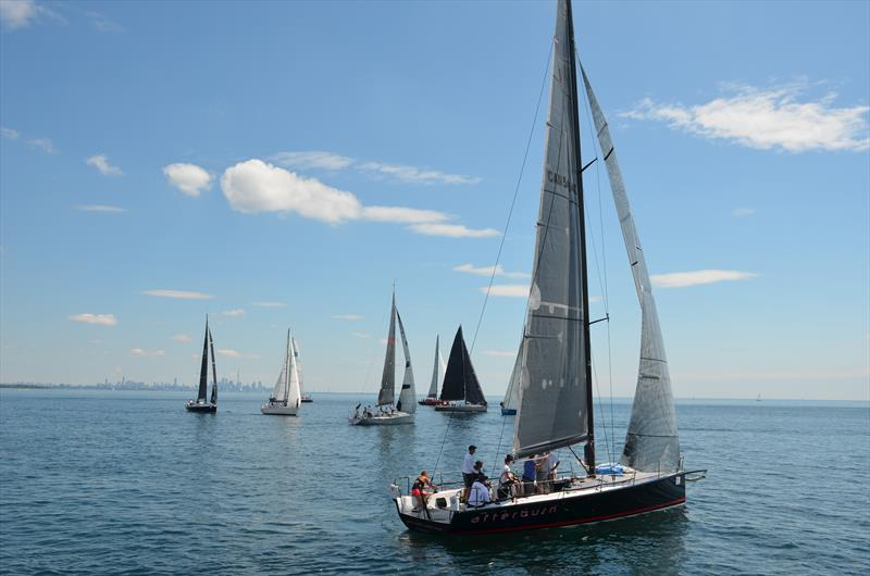 Teams negotiate light winds at the Lake Ontario 300 Challenge - photo © Steve Singer