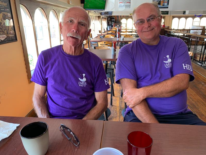 Bill Fisher and Mike Ludtke enjoy a pre-race breakfast - photo © Image courtesy of Phil Bush