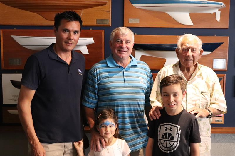Four generations at RNZYS 2019 (Jim, Frank, Aaron, Ben and Sienna Young) - photo © Young family archives