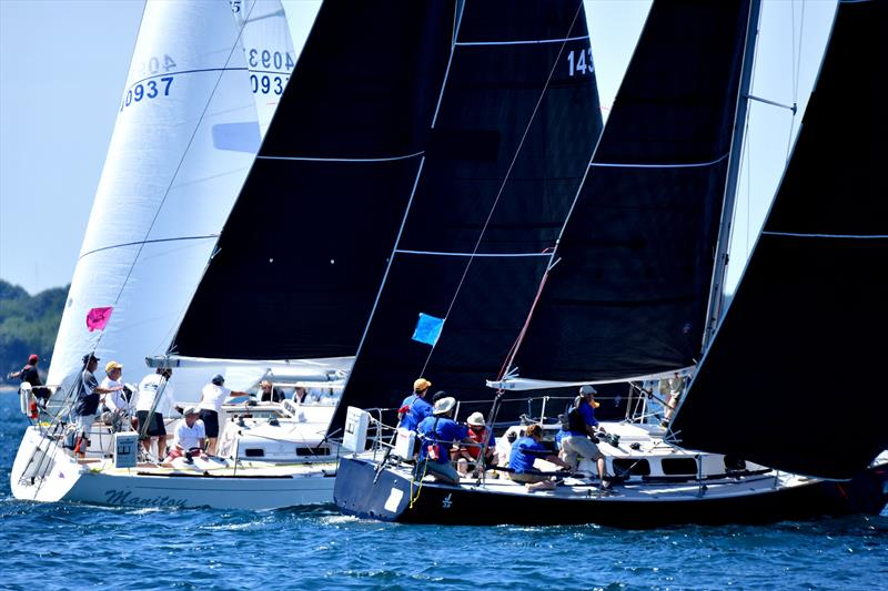 Racecourse action at the start of the 2019 Bayview Mackinac Race - photo © Images courtesy of Martin Chumiecki/Element Photography