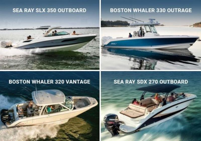 Sea Ray and Boston Whaler photo copyright marinemax.com taken at  and featuring the Power boat class