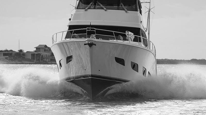 Effortlessly disposing of nautical miles in grand style - Riviera 72 Sports Motor Yacht photo copyright John Curnow taken at  and featuring the Power boat class