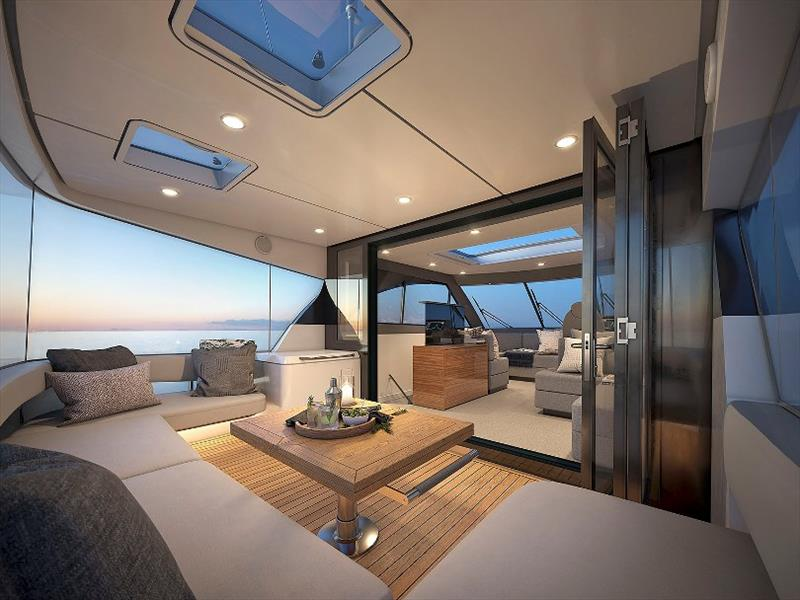 Maritimo M55 Flybridge - Aft final - photo © Maritimo