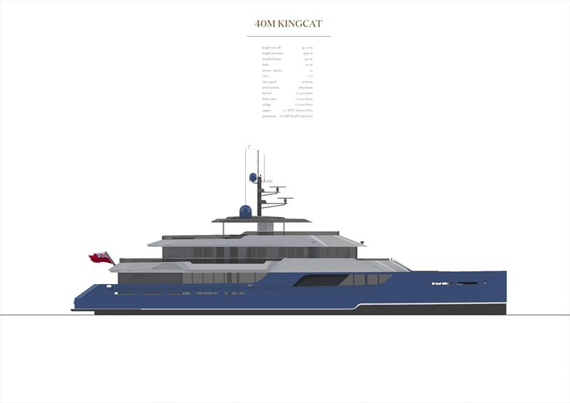 Kingship KingCat 40m - photo © renderings by Vripack