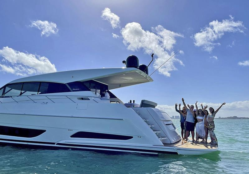 Jorge and Kathy Trigo along their daughters and friends had an amazing weekend cruising along the South Florida Coast on their new Maritimo X60 - photo © Maritimo