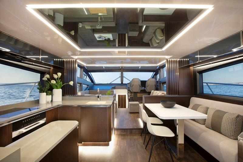 Pearl 62 saloon photo copyright Pearl Yachts taken at  and featuring the Power boat class