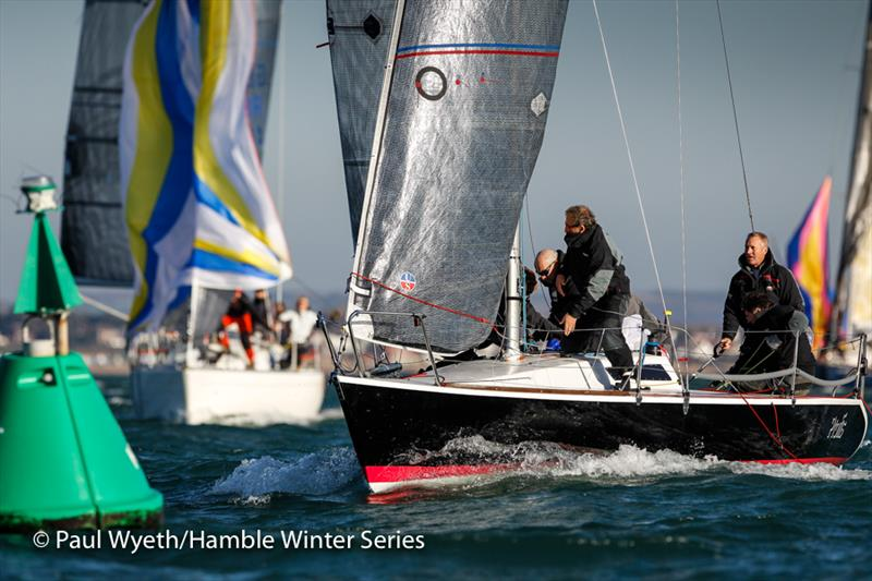 Protis in week 6 of HYS Hamble Winter Series - photo © Paul Wyeth / www.pwpictures.com