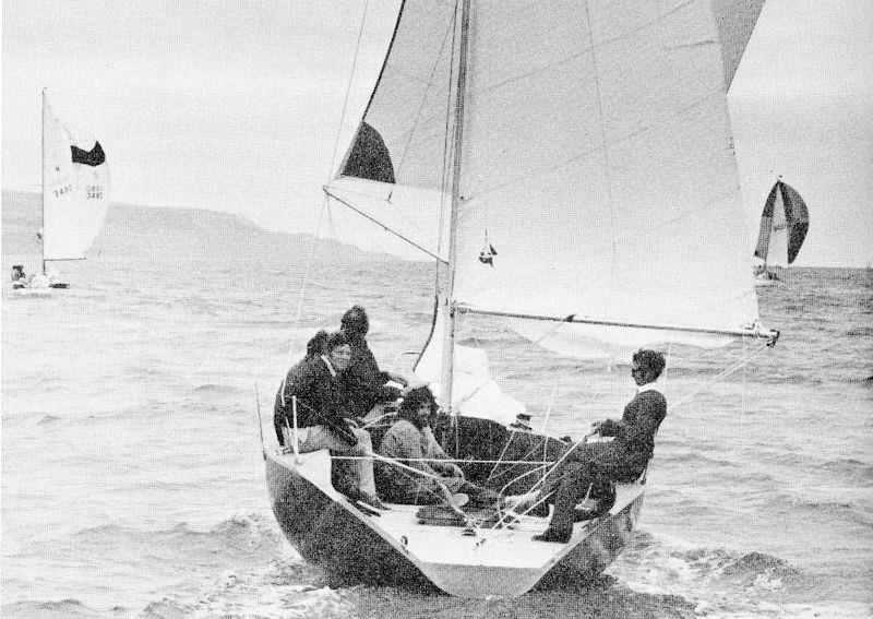 'Odd Job' racing out in the Solent with what would today be described as a 'hot shot' crew - photo © Jack Knights