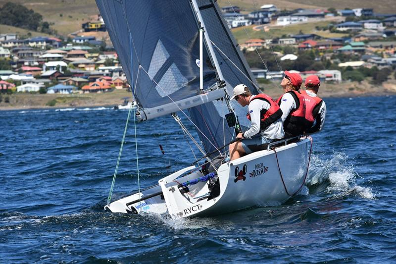 racegeek D10 in use during the SB20 Worlds 2018 in Tasmania - photo © racegeek