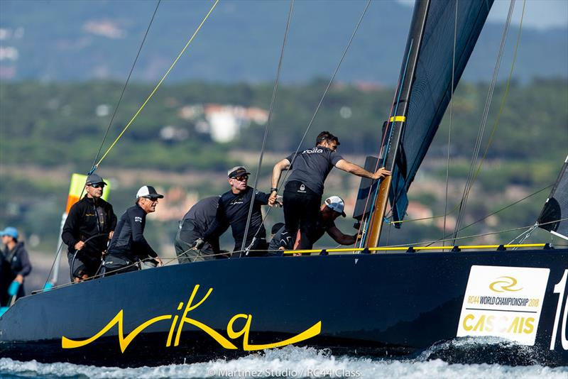 Team Nika will be looking for better downwind pace tomorrow - 2018 RC44 World Championship - photo © Pedro Martinez / Martinez Studio