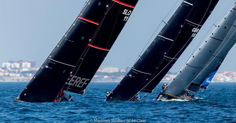Team CEEREF leads into the top mark in race two - 2018 RC44 World Championship - photo © Pedro Martinez / Martinez Studio