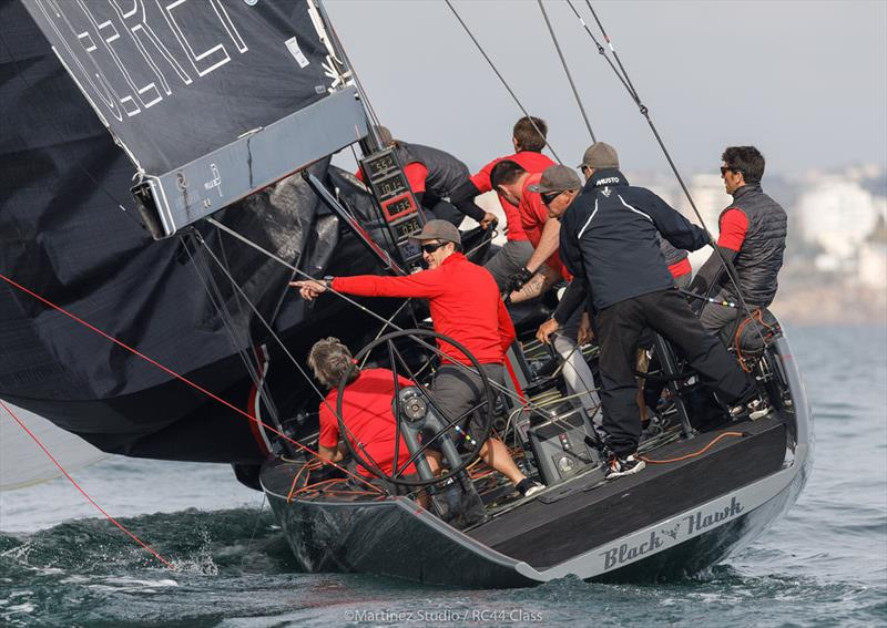 Igor Lah's Team CEEREF didn't get off to the best start on day 1 of the RC44 Cascais Cup - photo © Nico Martinez / www.MartinezStudio.es
