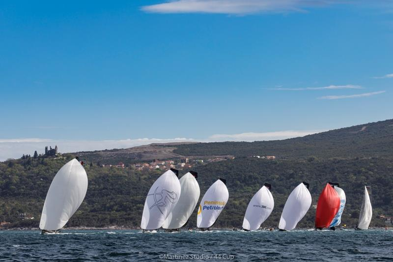 Aleph Racing held a commanding lead in race three only for it to evaporate at the finish - photo © Martinez Studio / RC44 Class