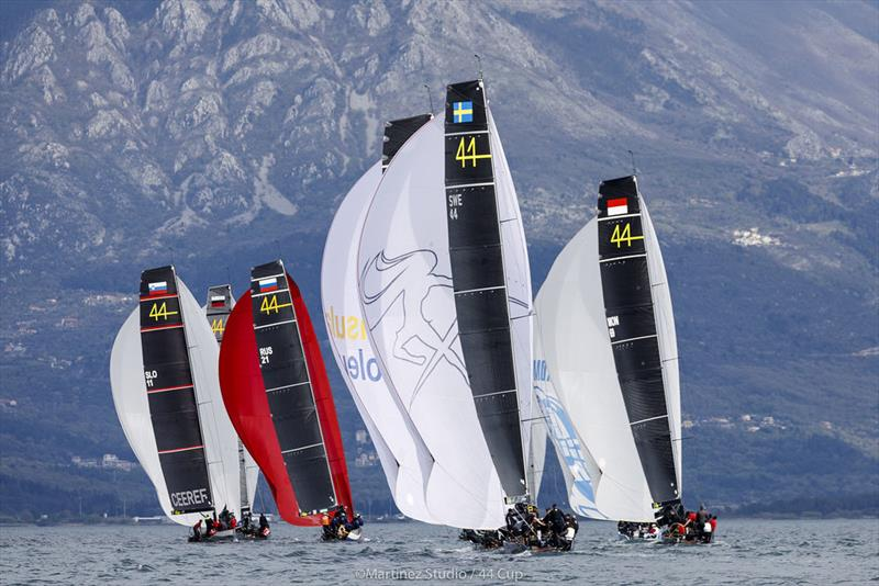 The rain held off today despite dramatic cloud cover over the mountains surrounding the Bay of Tivat - 2019 44Cup Porto Montenegro - photo © MartinezStudio.es