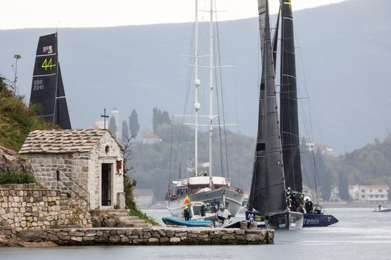 Magnificent scenery for today's Pro-Am coastal race - 44Cup Porto Montenegro 2019 photo copyright Nico Martinez / MartinezStudio / 44Cup taken at Porto Montenegro Yacht Club and featuring the RC44 class