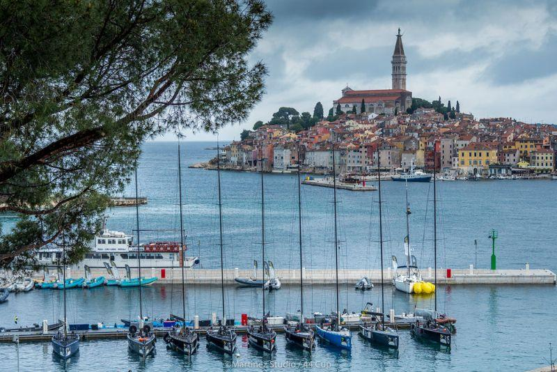 The 44Cup fleet in front of Rovinj old town - Adris 44Cup Rovinj - photo © Nico Martinez / MartinezStudio