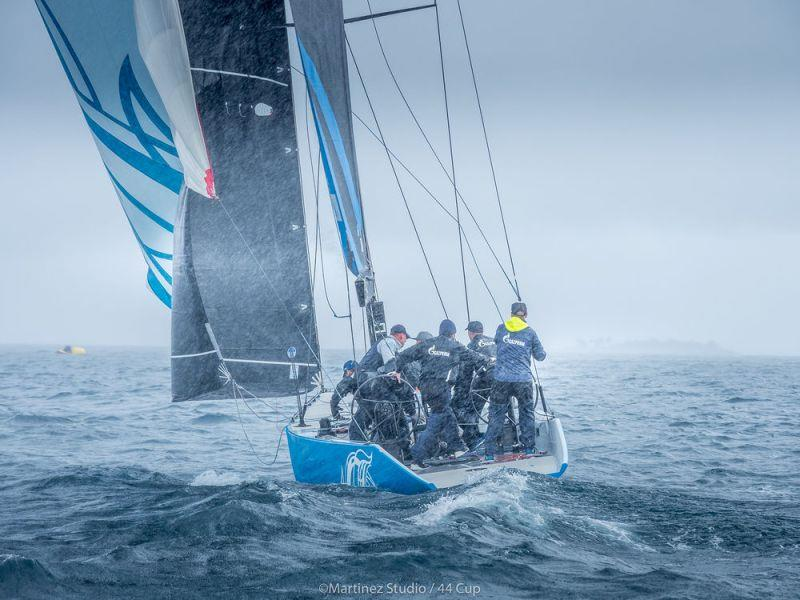 Bronenosec Sailing Team caught in the torrential rain - Adris 44Cup Rovinj - photo © Nico Martinez / MartinezStudio