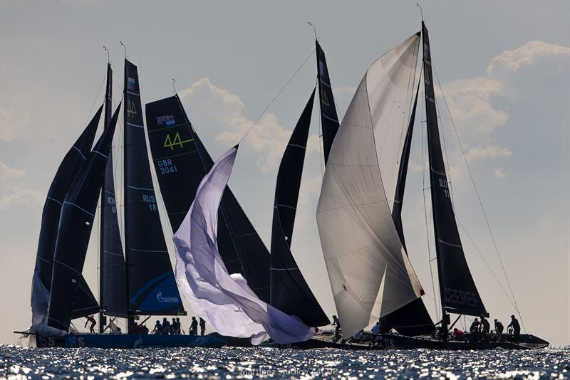 Tight action at the leeward gate - 44Cup World Championship - photo © Pedro Martinez / Martinez Studio