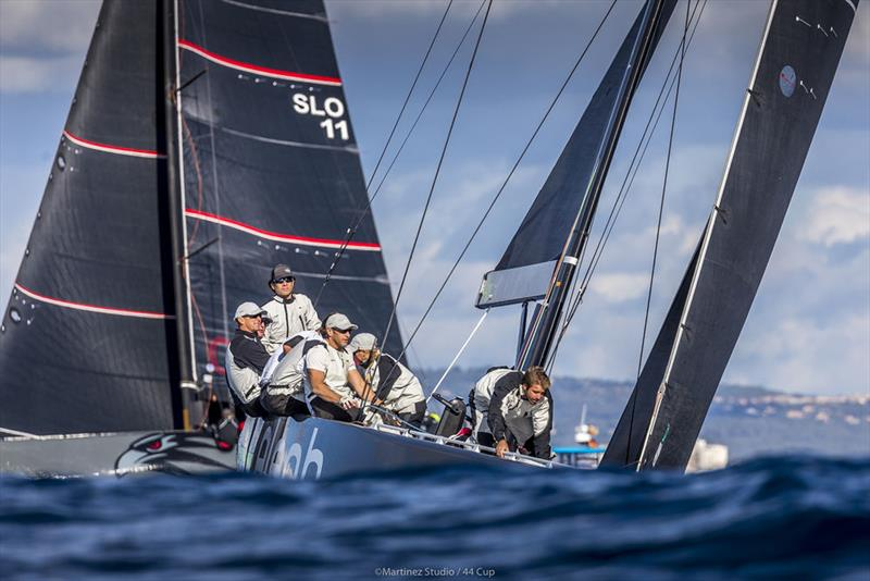But never finishing off the podium today, Hugues Lepic's Aleph Racing leads at the halfway stage of the 44Cup Palma - photo © Martinez Studio / 44 Cup