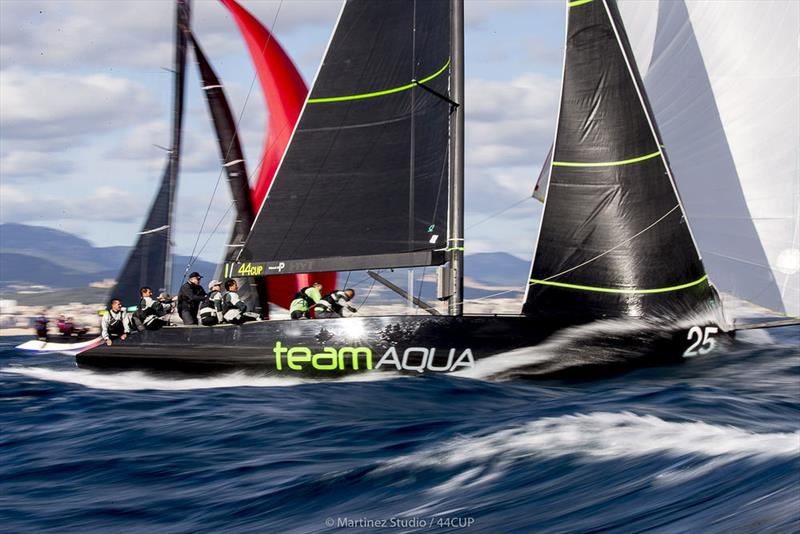 Team Aqua at pace - 2019 44Cup Palma - photo © Pedro Martinez / Martinez Studio