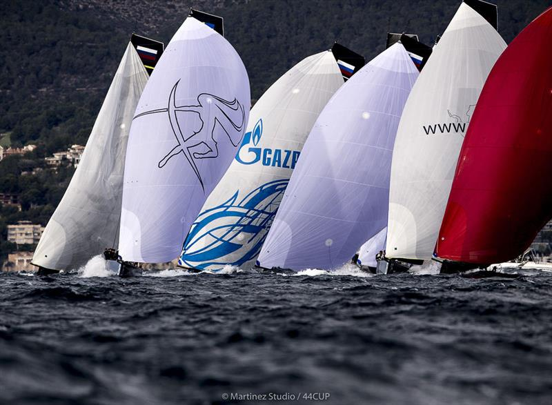 Lively downwind legs saw several broaches in the big wind and waves - 2019 44Cup Palma - photo © Pedro Martinez / Martinez Studio