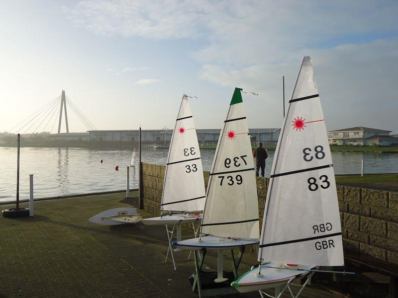 RC Laser Winter Series at West Lancs starts with very little wind - photo © Tony Wilson