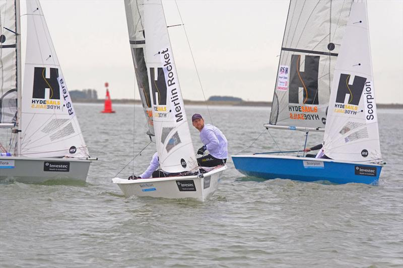 Christian Birrell and Sam Brearey (Merlin Rocket) are lying second overall after day 1 of the Endeavour Trophy 2019 - photo © Roger Mant Photography