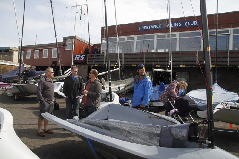 Rigging on day 1 of the Volvo Noble Marine RS300 Nationals - photo © Alan Henderson