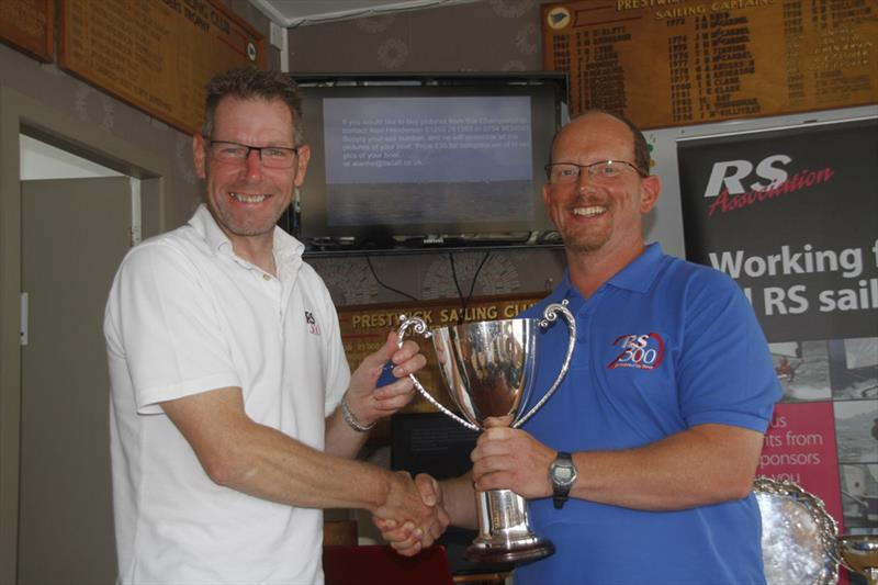National Champion Steve Bolland during the Volvo Noble Marine RS300 Nationals prize giving - photo © Alan Henderson