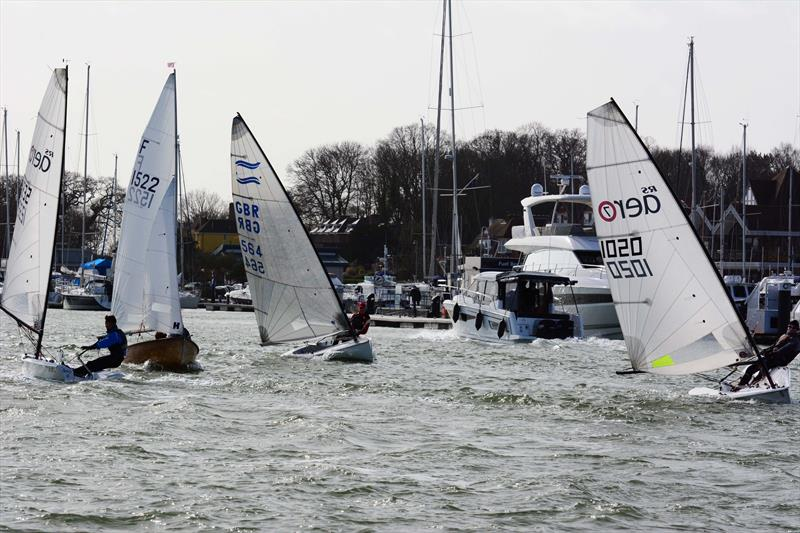 Singlehanders off Port Hamble during the 2019 Hamble Warming Pans - photo © Trevor Pountain