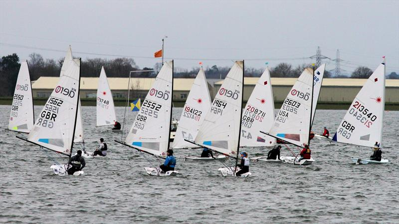 RS Aeros and Lasers at the GJW Direct Bloody Mary 2019 photo copyright Mark Jardine taken at Queen Mary Sailing Club and featuring the RS Aero class