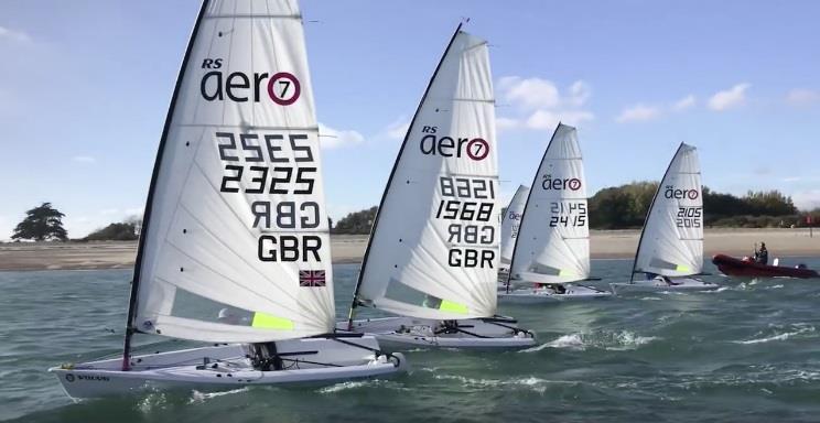 RS Aero Youth Winter training at Hayling Island Sailing Club