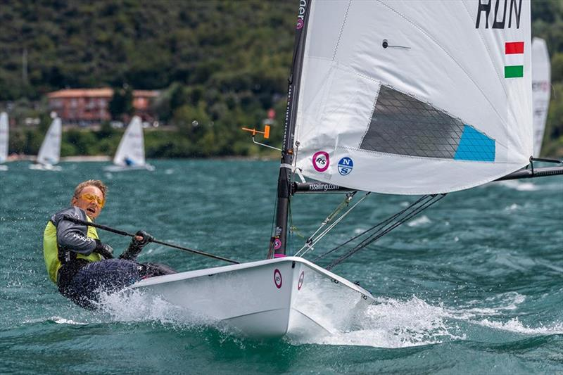 Attila Banyai HUN, RS Aero 5 European Champion, Lake Garda, Italy, August 2019 - photo © Lynn Billowes