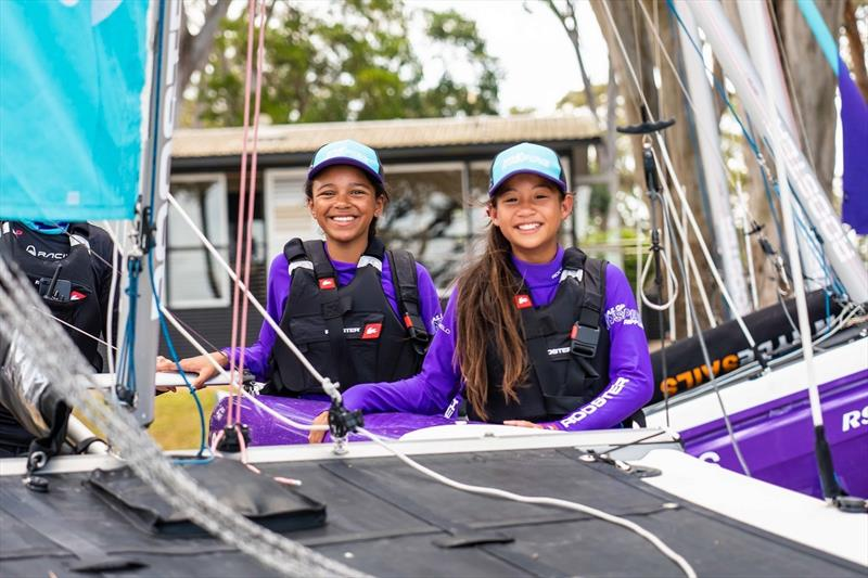 SailGP Inspire Learning program for children aged 9-13, hosted by Point Wolstoncroft Sport & Recreation Centre, NSW, Australia - photo © Beau Outteridge for SailGP