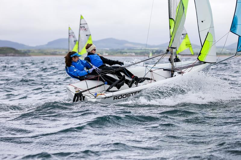 Millie & Katie at the 2019 RS Feva Nationals in Abersoch - photo © www.digitalsailing.co.uk