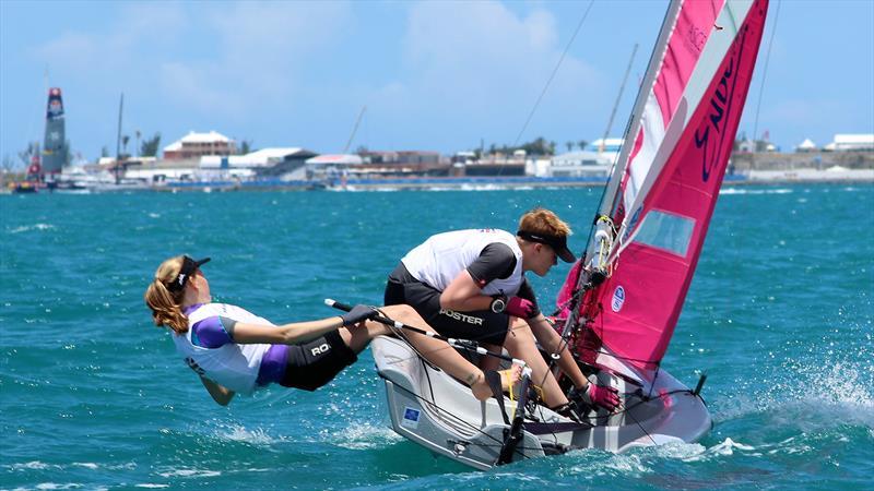 RS Feva sailing in Bermuda - photo © RS Sailing