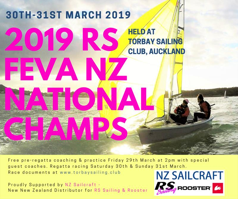 RS Feva Nationals will be held at the Torbay Sailing Club March 29-31, 2019 - photo © NZ Sailcraft