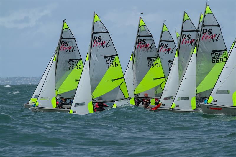 Day 1 - 2019 RS Feva NZ National Championships - Torbay Sailing Club - 30 March 2019 photo copyright Richard Gladwell taken at Torbay Sailing Club and featuring the RS Feva class
