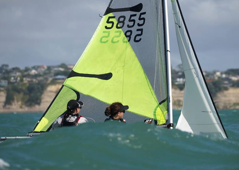 Day 2, RS Feva New Zealand Nationals, Torbay Sailing Club - March 31, 2019 photo copyright Denis Garner taken at Torbay Sailing Club and featuring the RS Feva class
