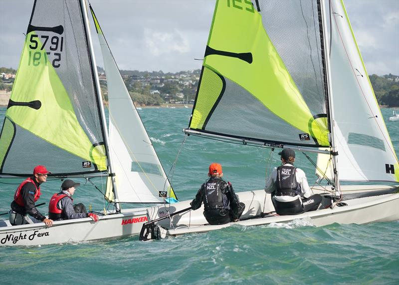 Day 2, RS Feva New Zealand Nationals, Torbay Sailing Club - March 31, 2019 - photo © Denis Garner